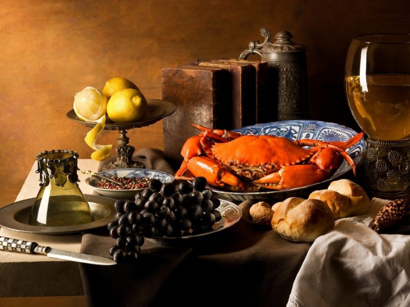 Still Life With Crab Wallpaper